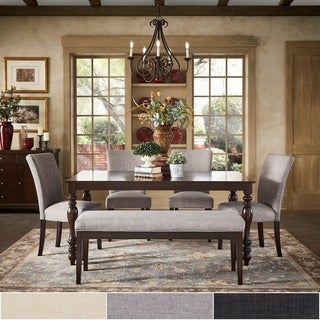 Pranzo Rectangular 66-inch Extending Dining Table and Dining Set with Baluster Legs by TRIBECCA HOME