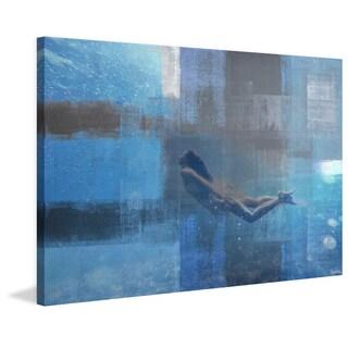Parvez Taj - 'Serene Swim' Painting Print on Wrapped Canvas