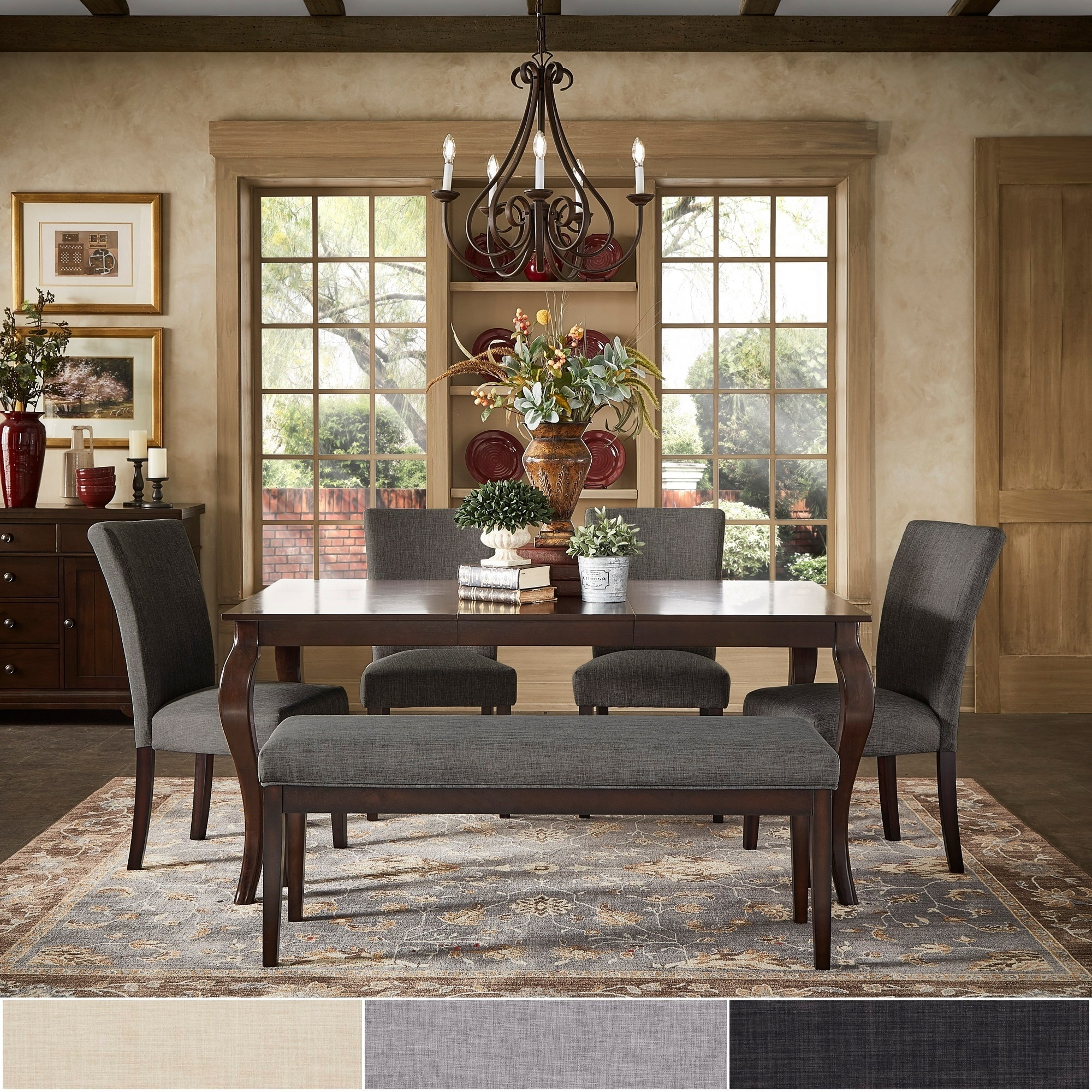 Pranzo Rectangular 66 Inch Extending Dining Table And Set With Cabriole  Legs By INSPIRE Q