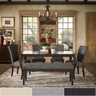 TRIBECCA HOME Pranzo Rectangular 66 Inch Extending Dining Table and Dining Set - Cabriole Legs