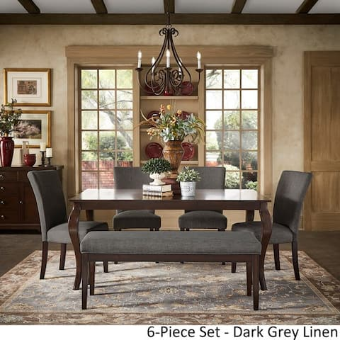 Pranzo Rectangular 66-inch Extending Dining Table and Set with Cabriole Legs by iNSPIRE Q Classic