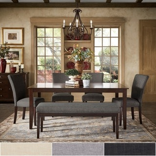 Pranzo Rectangular 72-inch Extending Dining Table and Dining Set with Tapered Legs by TRIBECCA HOME