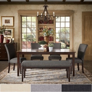 Pranzo Rectangular 72-inch Extending Dining Table and Set with Tapered Legs by iNSPIRE Q Classic