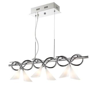 Golden Lighting Iberlamp #C166-L6-CH Lisa 6-light Linear Pendant