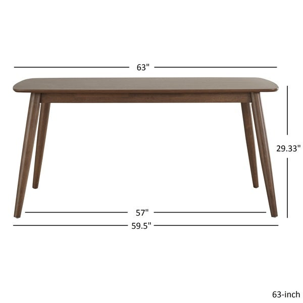 Elegant Norwegian Mid Century Danish Modern Tapered Dining Table INSPIRE Q Modern    Free Shipping Today   Overstock.com   19675538