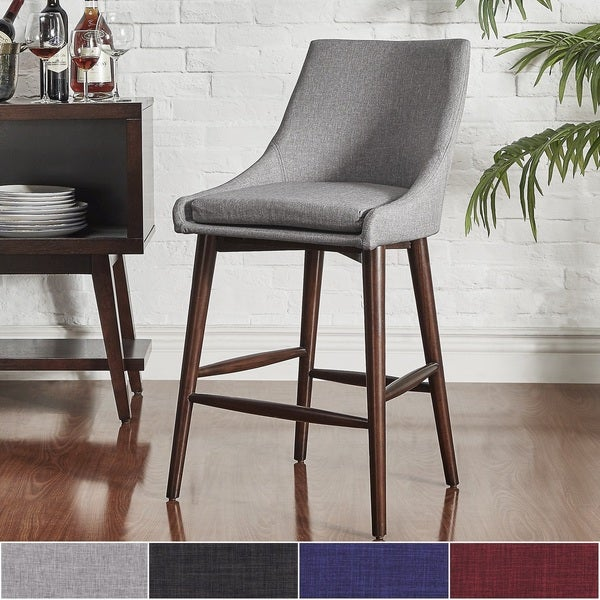 Sasha Espresso Barrel Back Counter Stools (Set Of 2) INSPIRE Q Modern    Free Shipping Today   Overstock.com   19675536