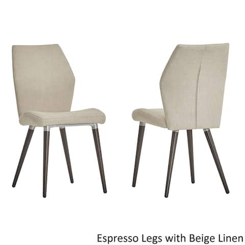 Abelone Contour Upholstered Dining Chairs Set Of 2 By Inspire Q Modern
