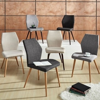 MID-CENTURY LIVING Abelone Contour Upholstered Side Chairs (Set of 2)