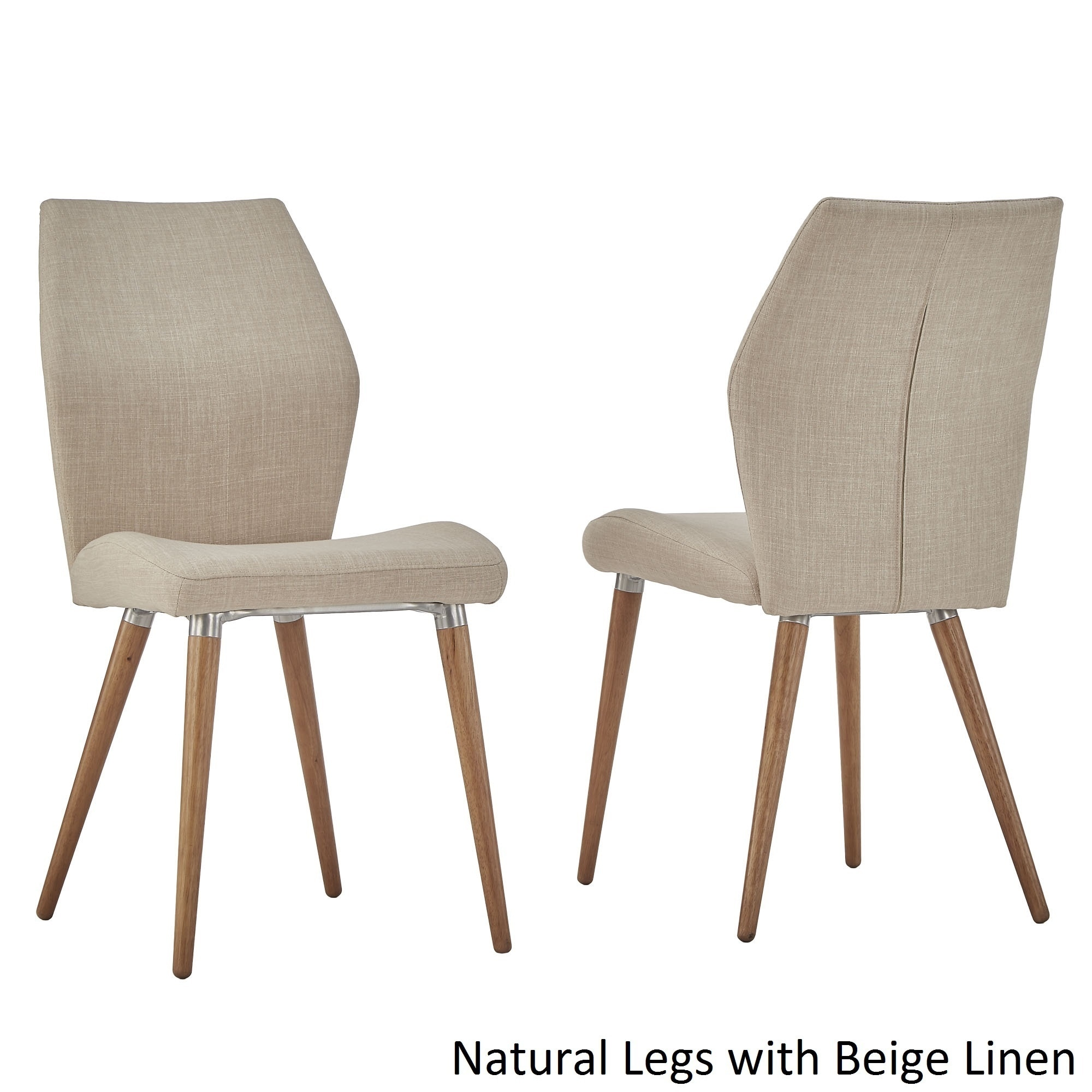 iNSPIRE Q Abelone Contour Upholstered Dining Chairs (Set of Beige/Natural
