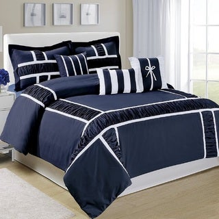Fashion Street Marma Bordered 7-piece Comforter Set