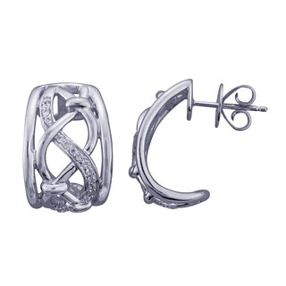 Sterling Silver Diamond Accent Leverback Earrings (H-I, I1-I2)