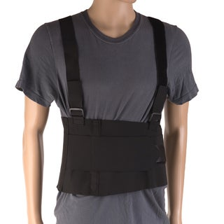 DMI Deluxe 2XL Work Belt Back/Lumbar Support Brace with Adjustable, Removable Shoulder Straps