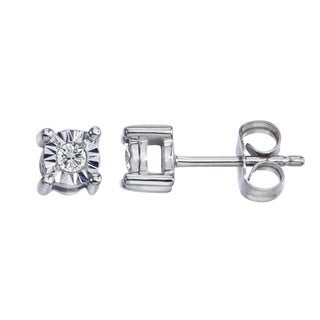 Sterling Silver Diamond Accent Stud Earrings by Ever One