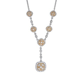 14k Two-tone Gold 1ct TDW Diamond Necklace (H-I, I1-I2) by Ever One