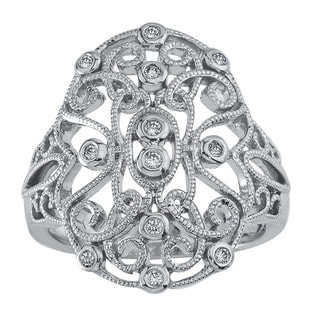 Sterling Silver 1/8ct TDW Diamond Cocktail Ring (H-I, I2-I3)
