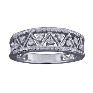 Sterling Silver 1/4ct TDW Diamond Wedding Band (H-I, I1-I2) by Ever One