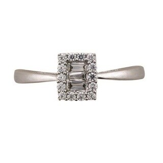 10k White Gold 1/4ct TDW Diamond Ring (H-I, I1-I2) by Ever One