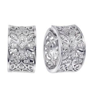 Sterling Silver 1/10ct TDW Diamond Hoop Earrings (H-I, I2-I3)
