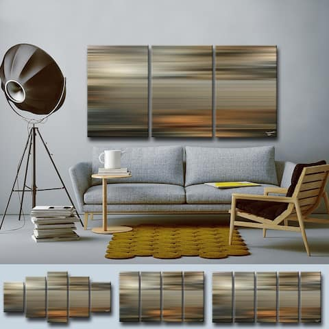 'Blur Stripes LXI' Multi-piece Wrapped Canvas Abstract Wall Art Set