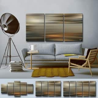 Blur Stripes LXI' Multi-Piece Wrapped Canvas Wall Art Set