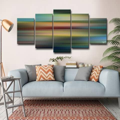 Blur Stripes LVII' Multi-Piece Wrapped Canvas Wall Art Set