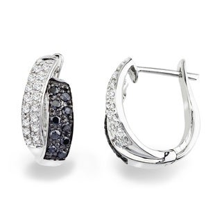 Sterling Silver Diamond Accent Leverback Earrings (H-I, I2-I3)