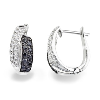 Sterling Silver Diamond Accent Leverback Earrings by Ever One