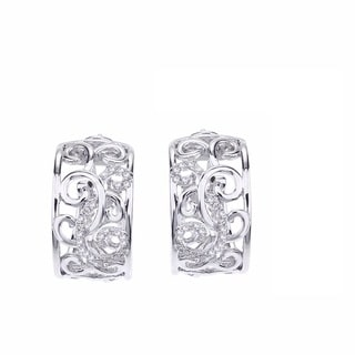 Sterling Silver 1/4ct TDW Diamond Leverback Earrings by Ever One