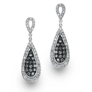 Sterling Silver Diamond Accent Drop Earrings by Ever One