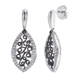 10k White Gold 1/4ct TDW Diamond Drop Earrings by Ever One