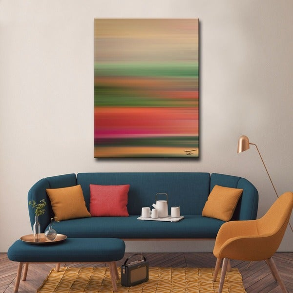 Ready2HangArt 'Blur Stripes LI' by Tristan Scott Canvas Art