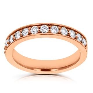 14k Rose Gold 1/3ct TDW La Vita Vital Wedding Band