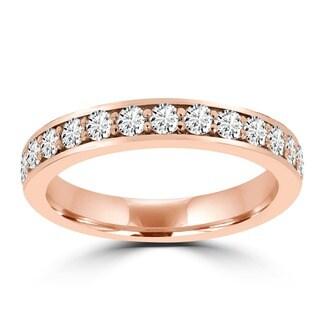 14k Rose Gold 5/8ct TDW La Vita Vital Wedding Band