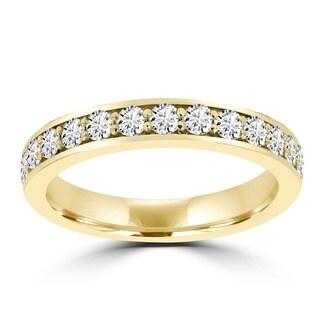 14k Yellow Gold 5/8ct TDW La Vita Vital Wedding Band