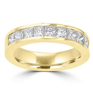 14k Yellow Gold 1 3/4ct TDW La Vita Vital Wedding Band
