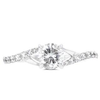 14k White Gold 7/8ct TDW La Vita Vital Engagement Ring