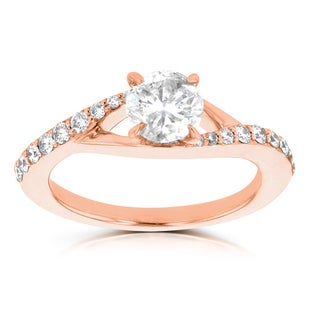 14k Rose Gold 7/8ct TDW La Vita Vital Engagement Ring