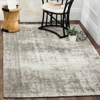 Safavieh Classic Vintage Silver/ Ivory Cotton Distressed Rug - 8' x 10'