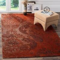 Safavieh Classic Vintage Rust/ Brown Cotton Distressed Rug - 8' x 10'