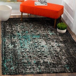 Safavieh Classic Vintage Navy/ Teal Cotton Distressed Rug (5' x 8')