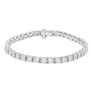 Sofia 10k White Gold 2ct TDW Diamond Tennis Bracelet (H-I, I2)