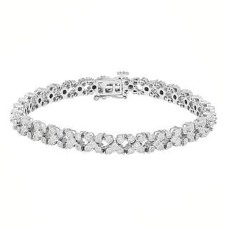 Sofia 10k White Gold 1 2/5ct TDW Diamond Tennis Bracelet (H-I, I2)