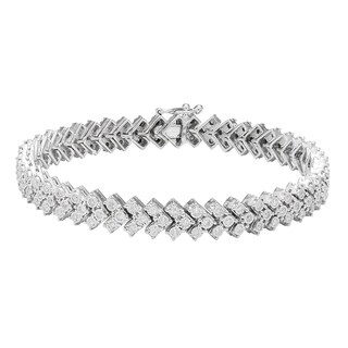 Sofia 10K White Gold 1 1/3ct TDW Diamond Tennis Bracelet (H-I, I2)