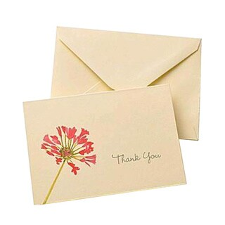 Pink Floral Thank You Cards (Case of 50)
