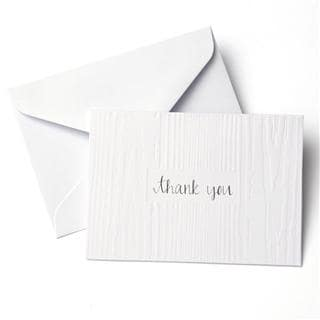 Woodgrain Embossed 'Thank You' Cards (Case of 50)