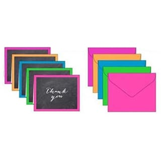 Bright Chalk Thank-you Cards (Case of 50)