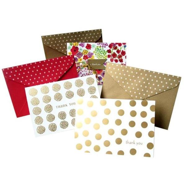 shop gold and floral assorted thank you cards case of 15 ships