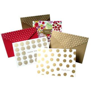 Gold and Floral Assorted 'Thank You' Cards (Case of 15)