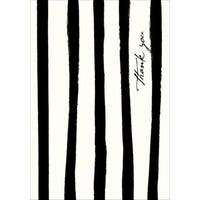 Black and White Stripe 'Thank You' Cards (Case of 15)