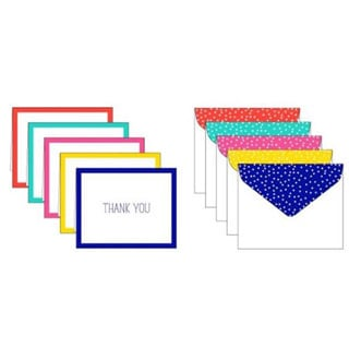 Assorted Bright Thank You Cards (Case of 50)